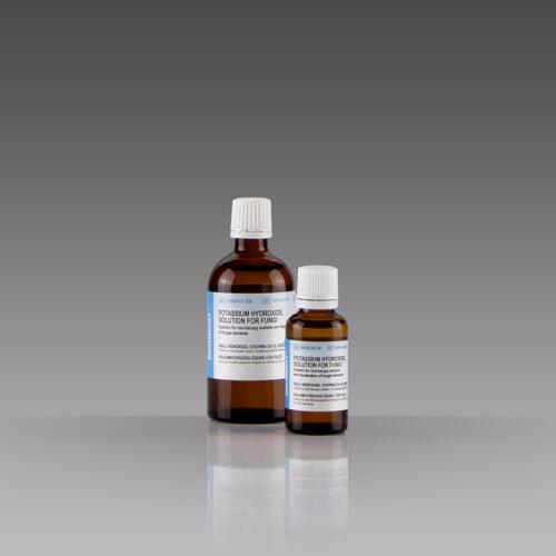 Potassium hydroxide, solution for fungi